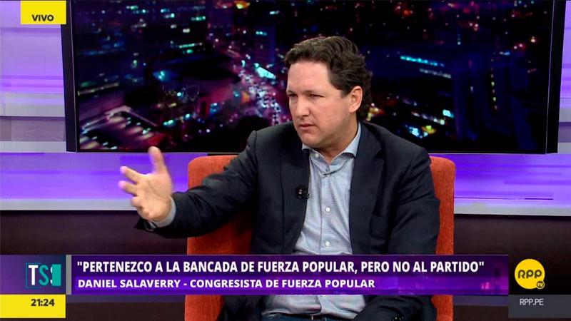 Salaverry no quiso hablar sobre los temas administrativos de Fuerza Popular y dijo que él solo es vocero de la bancada congresal.