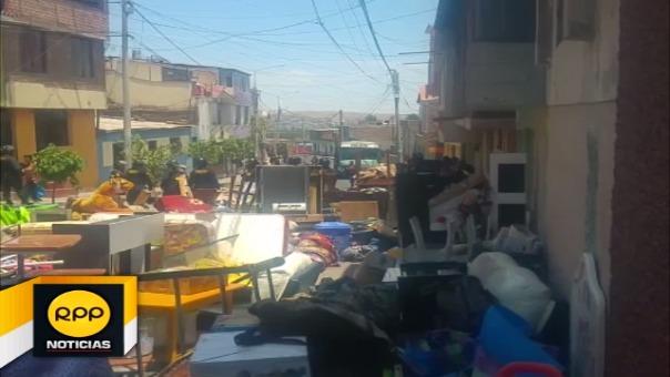 Desalojo a anciana de su casa en Arequipa.