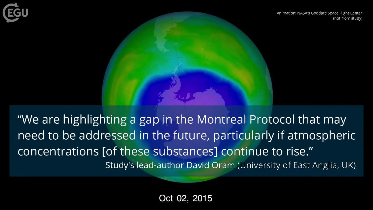 La propagación del agujero en la capa de ozono en 1979 y 2008