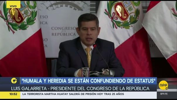 El presidente del Congreso habló sobre la comisión que investiga al expresidente Ollanta Humala y Nadine Heredia por la muerte de Emerson Fasabi