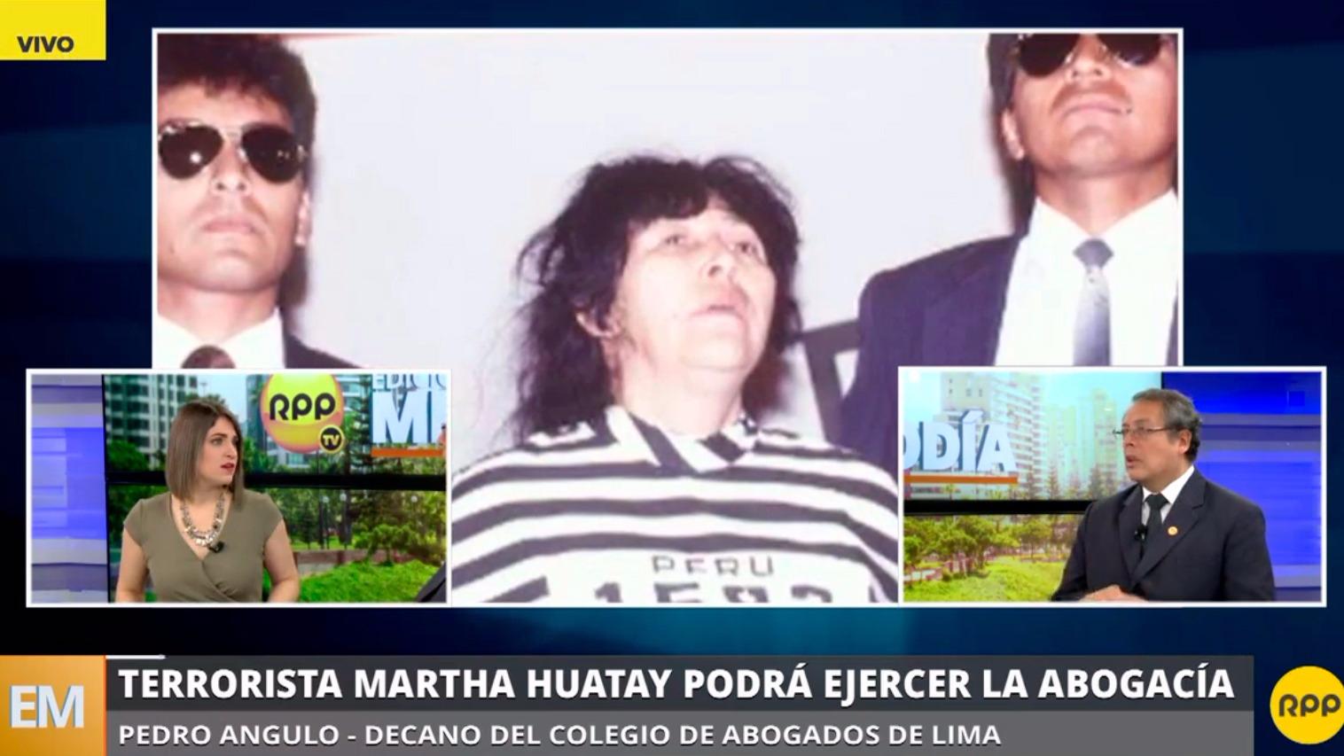 El decano del colegio de abogados de Lima dijo que en su sentencia Martha Huatay no menciona su inhabilitación.