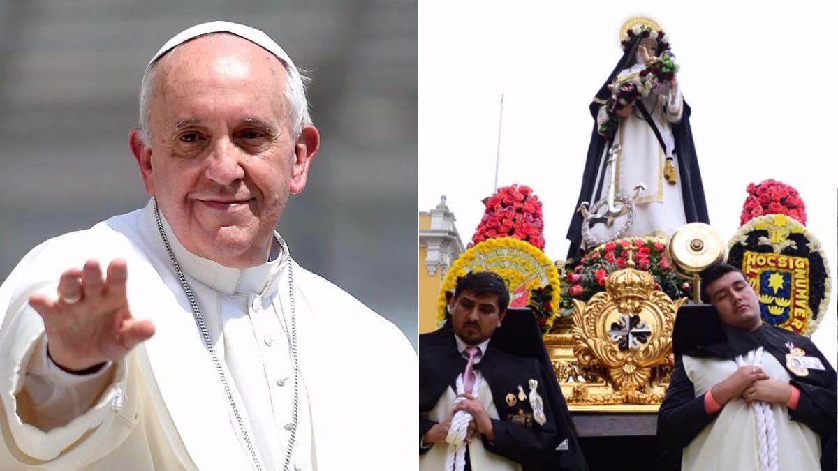 El papa Francisco ha destacado las virtudes de los santos que pasaron por el Perú.