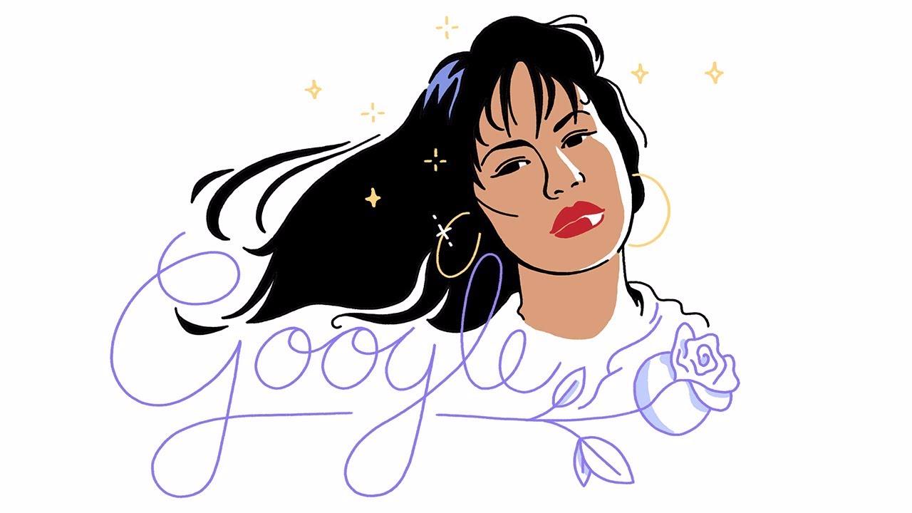 Este es el doodle de Selena Quintanilla