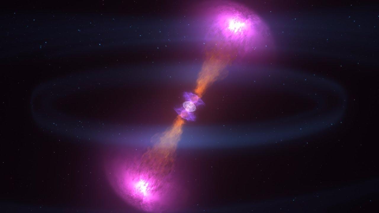 Esta es la recreación, elaborada por la Nasa, de una colisión entre dos estrellas de neutrones.