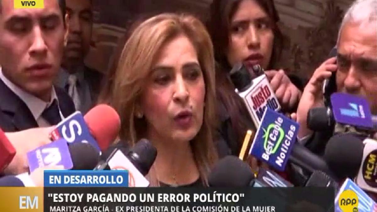 Maritza García declaró tras renunciar a la presidencia de la Comisión de la Mujer.