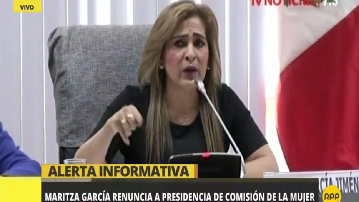 Maritza García será reemplazada por otro miembro del fujimorismo.