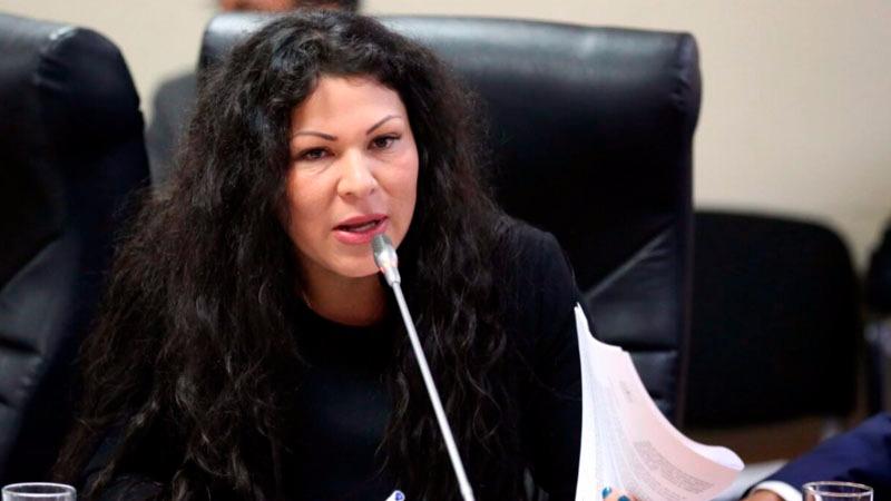La parlamentaria fue suspendida durante una reunión de su bancada.