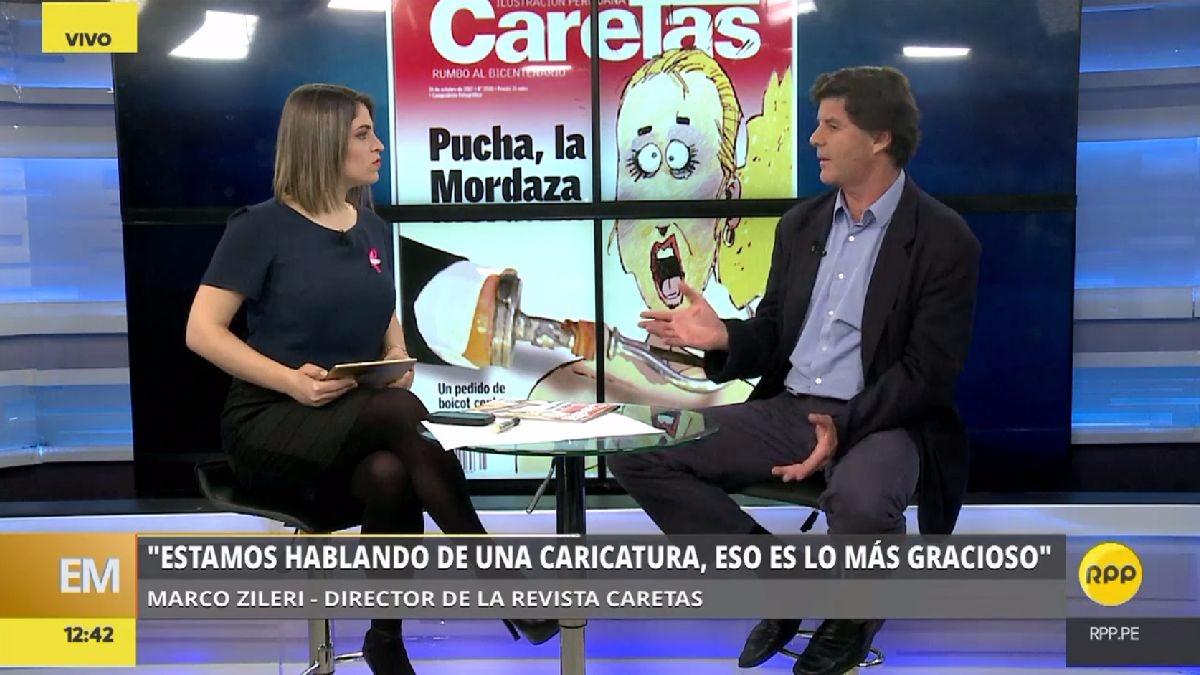El director de la revista Caretas defendió el derecho de su revista a publicar una revista de sátira como la de 'La China Tudela' ante el pedido del presidente del Congreso a que le quiten sus auspicios.