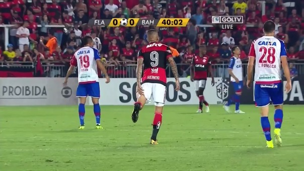 Las cámaras de transmisión del partido captaron el momento en el que Guerrero siente la molestia.
