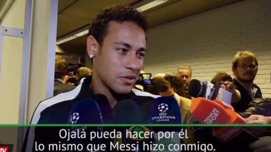 Neymar habló después del partido del PSG contra el Anderlecht por la Champions League.