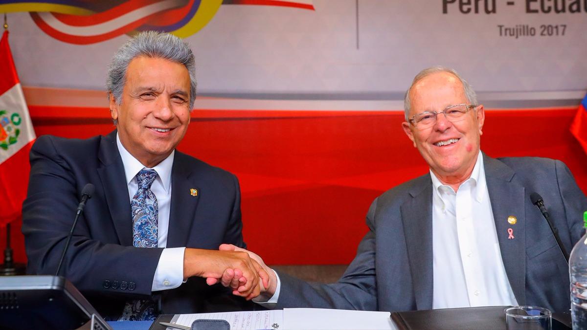 El comentario de PPK fue respondido por Lenín Moreno, quien dijo que en Ecuador no tienen a un presidente preso, pero que