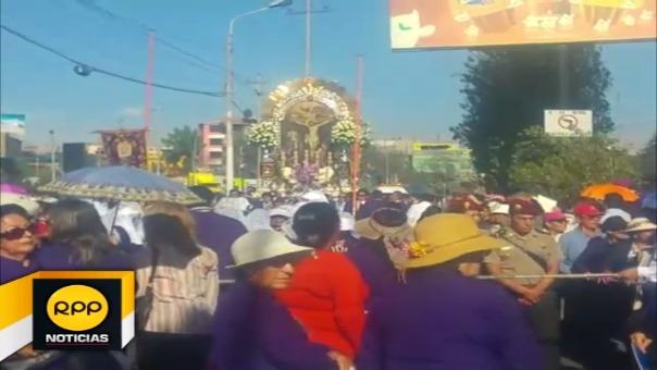 La imagen del Cristo Moreno se trasladará hoy hasta la parroquia de Cayma.