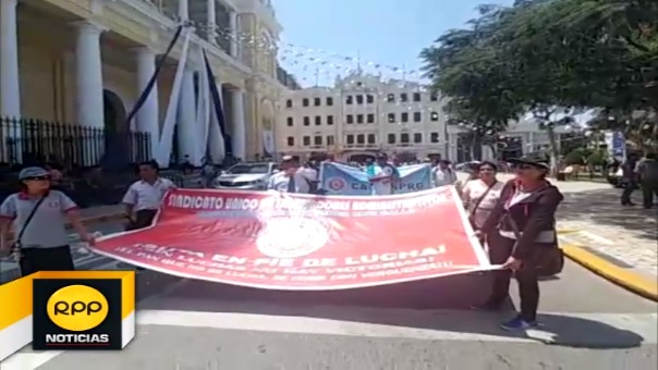 Marcha de administrativos de UNPRG
