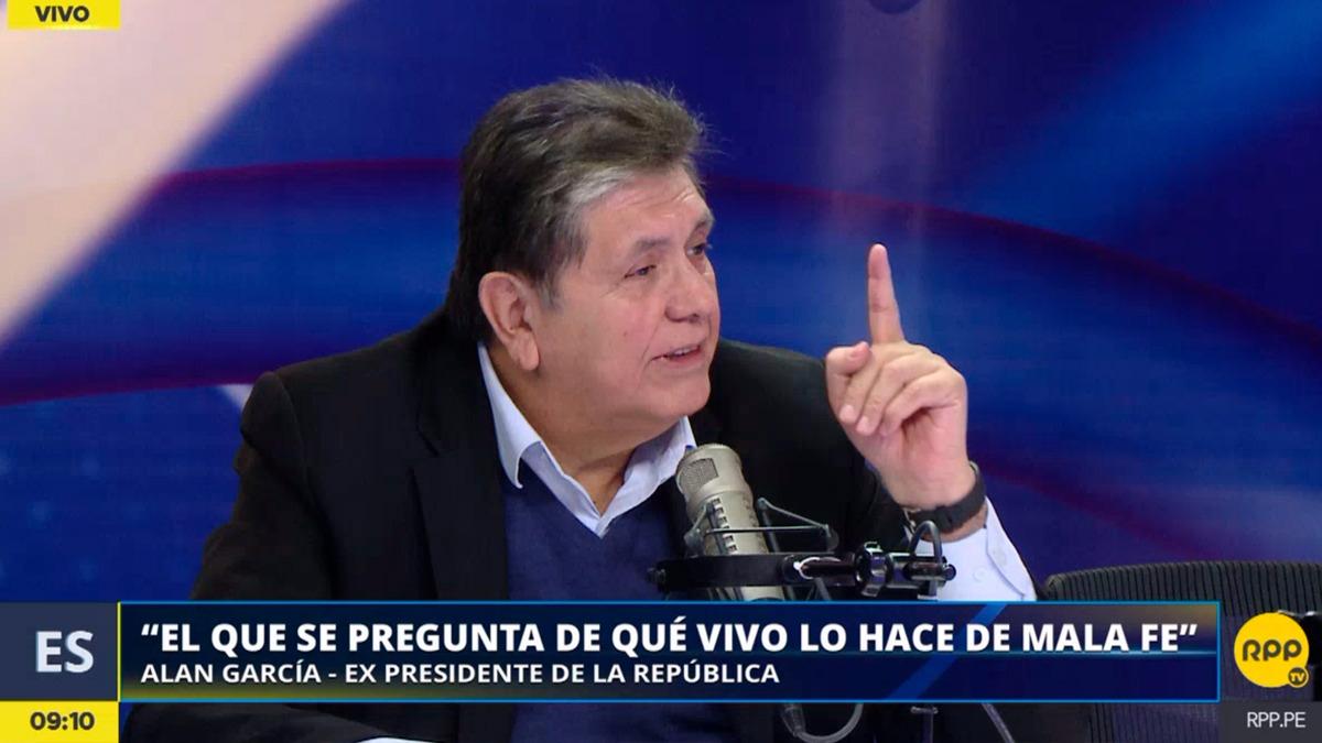 Alan García aseguró que todos sus ingresos son transparentes y que la investigación en su contra es