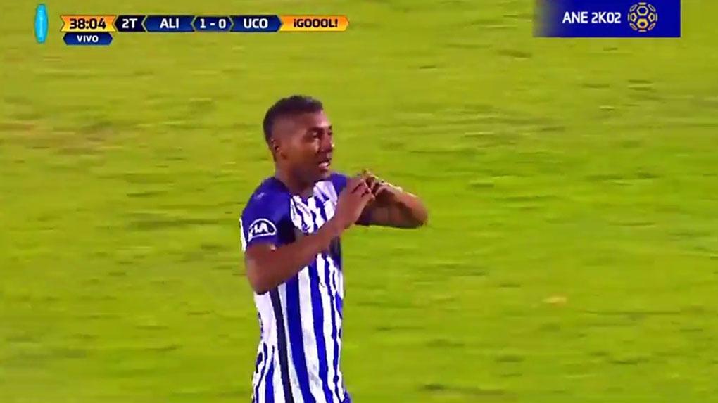 Aldair Fuentes anotó el único gol del partido.