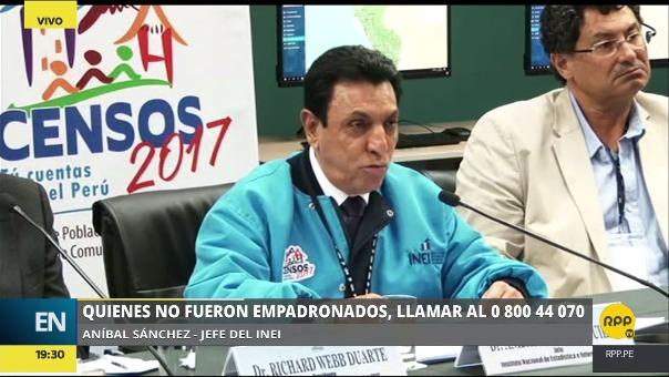 Anibal Sánchez dijo que no debe sorprender la publicidad que se veía en polos y stickers pues la empresa privada siempre ha apoyado los censos.