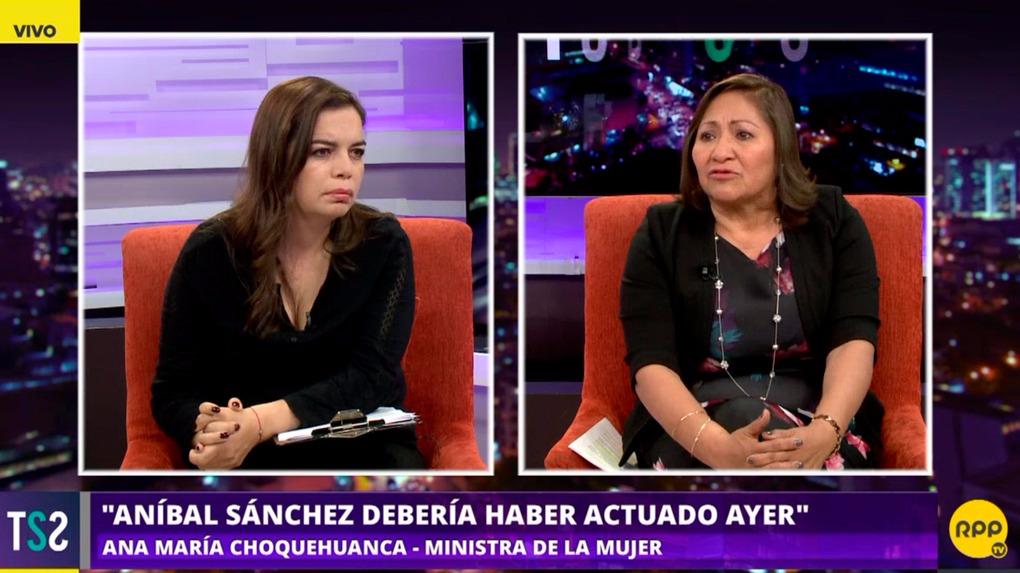Ana María Choquehuanca criticó al jefe del INEI, Aníbal Sánchez.