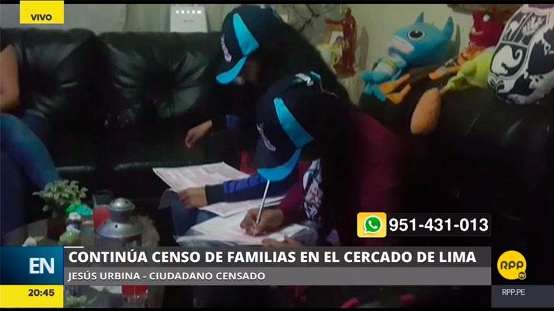 Los censistas aún siguen empadronando viviendas a dos días del Censo Nacional 2017.