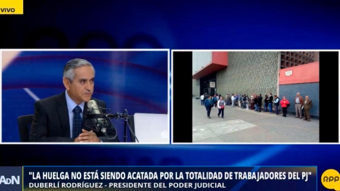 El presidente del Poder Judicial dijo que la huelga no es acatada en su totalidad en Lima