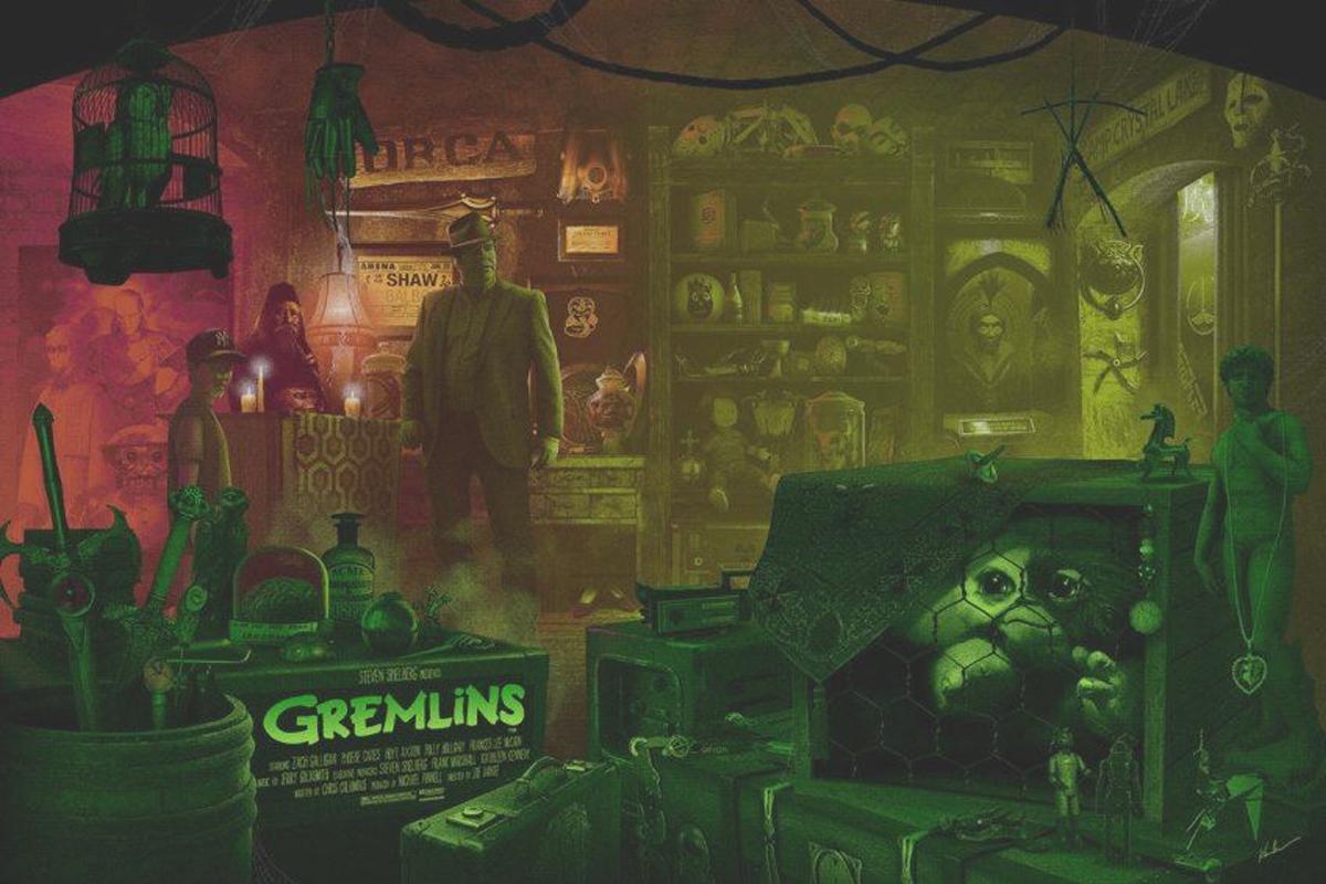 Poster de los Gremlins de Kevin Wilson.