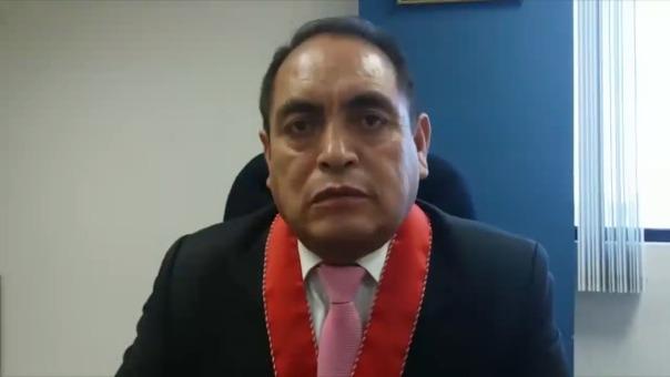 El presidente de la Junta de Fiscales Superiores de Ica, Orlando Goméz Oscorima.