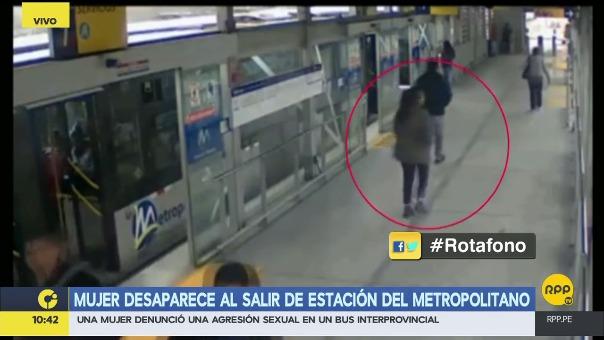 Mujer desaparece al salir de estación del Metropolitano