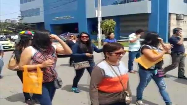 Protesta de trabajadores del Poder Judicial y del Ministerio Público.