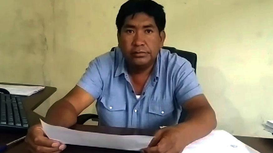 Director de Servicio de Equipo Mecánico del gobierno regional, Marcelino Paucca.