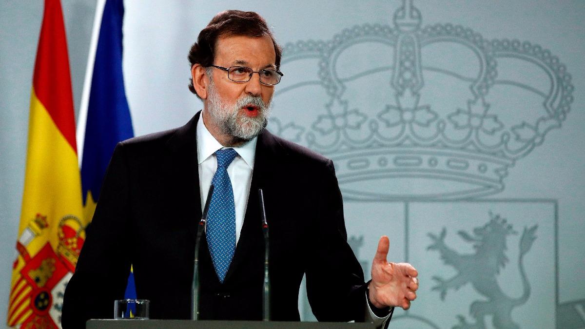 Rajoy declaró desde el Palacio de la Moncloa, sede de la Presidencia española.