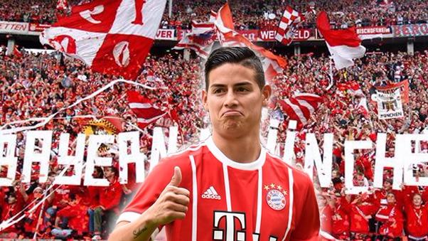 James Rodríguez anotó su segundo gol en el Bayern Munich.