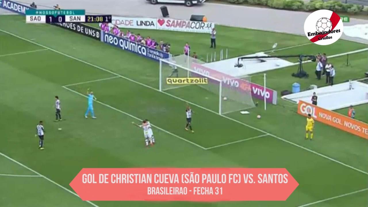 Revive el gol de Christian Cueva con Sao Paulo.