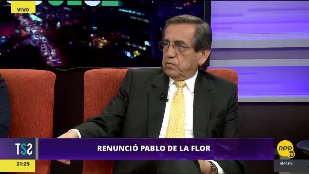 Jorge del Castillo señaló que el Gobierno aceptó la renuncia de Pablo de la Flor a la Autoridad de la Reconstrucción con Cambios por presión del partido César Acuña.