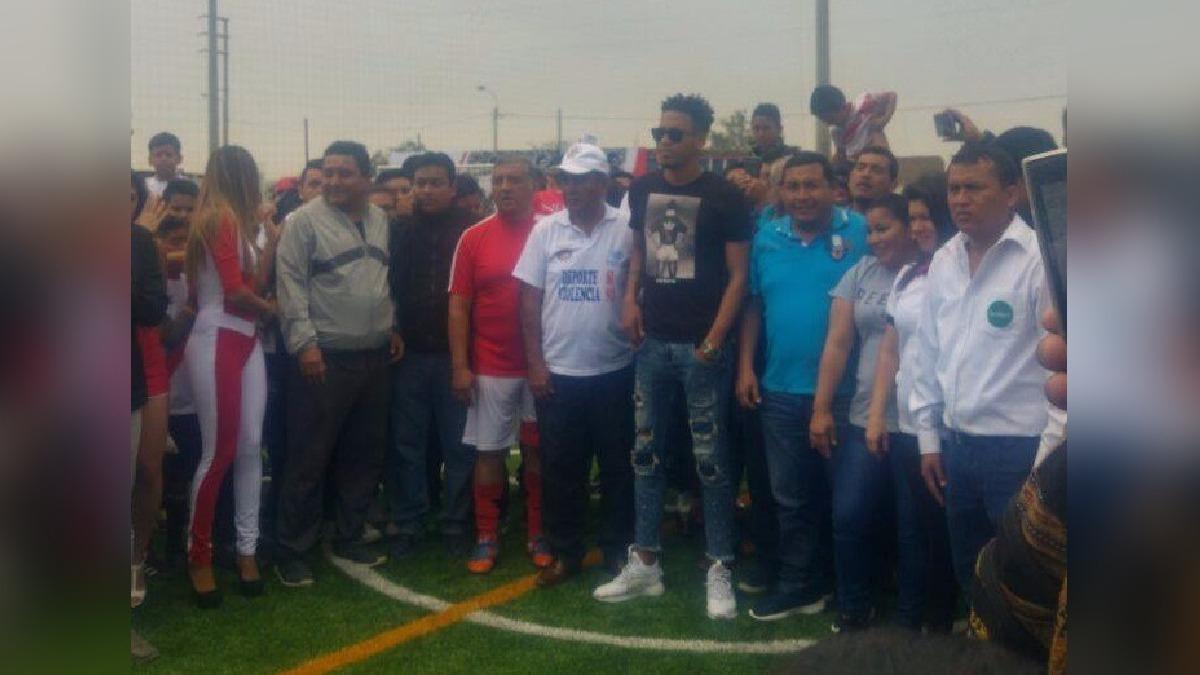 El destacado arquero de la selección peruana, Pedro Gallese, fue ovacionado por los trujillanos.