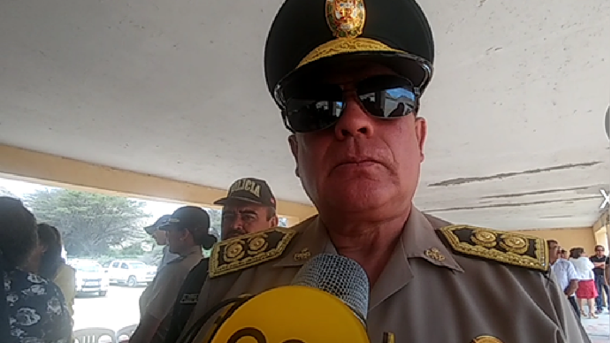 Jefe de la region policial de Lambayeque, general Jorge Perez Flores.