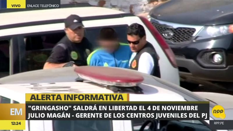 El gerente de Centros Juveniles del Poder Judicial, Julio Magán, confirmó que 'Gringasho' será liberado este sábado.