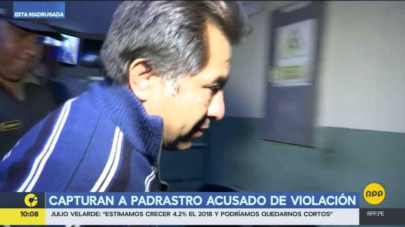 Rafael Castillo Valladolid fue detenido esta madrugada, acusado de violar a su hijastra.
