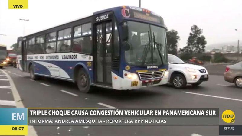 El accidente ocurrió a la altura del kilómetro seis de la Panamericana Sur, en Surco.