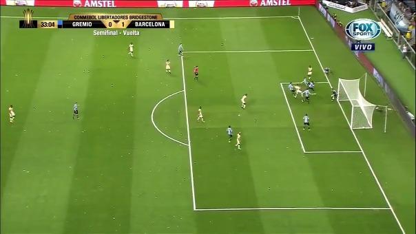 Barcelona venció 1-0 a Gremio, pero el 3-0 de la ida para los brasileños fue contundente.