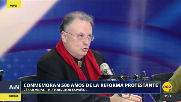 César Vidal conversó con el panel de Ampliación de Noticias sobre el protestantismo y sus diferencias con el catolicismo.