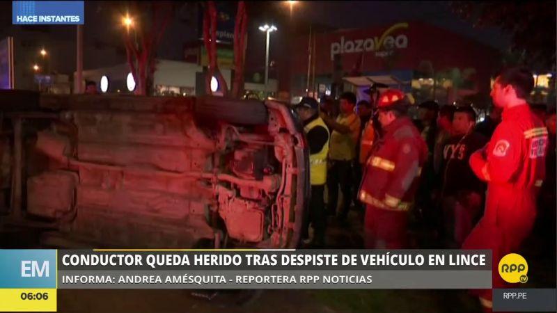 El accidente ocurrió en la avenida Arequipa, en el cruce con la calle Gregorio de Las Heras.