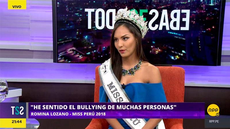 Romina Lozano sostuvo que ella también ha sido víctima de violencia en diversas formas y que se siente orgullosa de haber expuesto la problemática de la violencia contra la mujer en Perú.