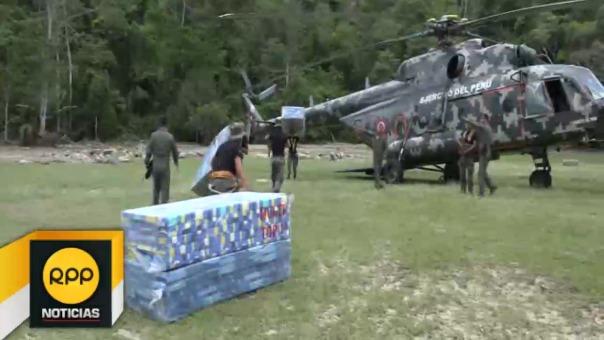 Otra ayuda está ingresando vía terrestre desde Picota y Tres Unidos, luego de la rehabilitación temporal de algunos tramos de la trocha carrozable.