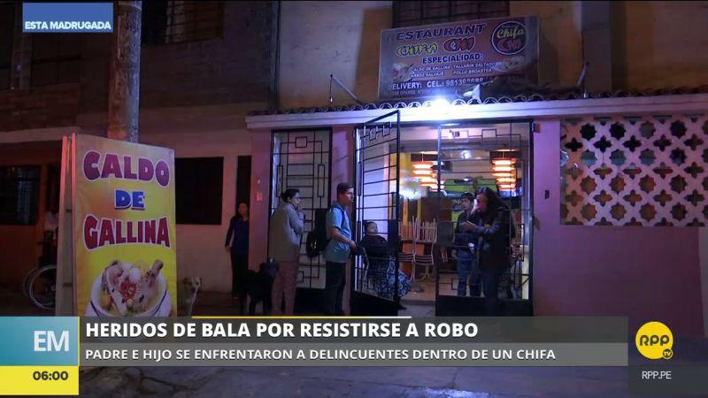 El ataque se produjo en un chifa de la avenida José Granda.