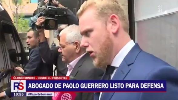 El abogado de Paolo Guerrero prefirió no hablar mucho al respecto.