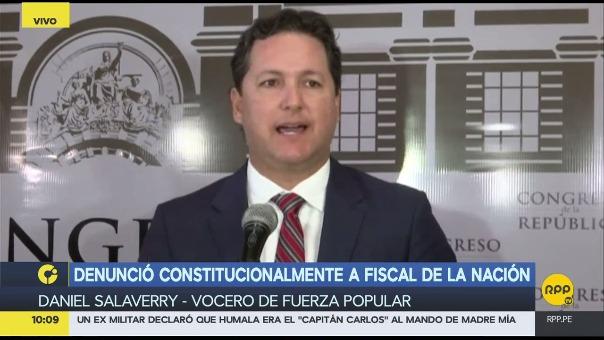Salaverry ofreció explicaciones de la denuncia constitucional contra Pablo Sánchez.