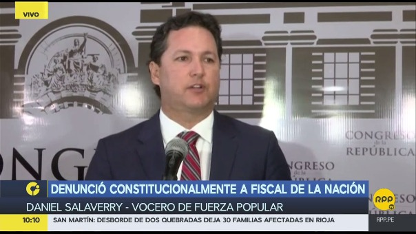 Daniel Salaverry explicó su denuncia constitucional contra el fiscal de la Nación.