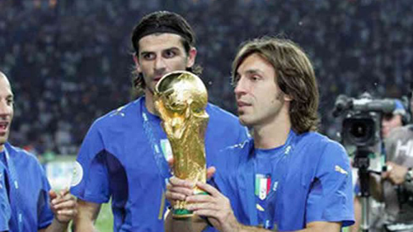Andrea Pirlo salió campeón del mundo con la Selección de Italia en Alemana 2006.