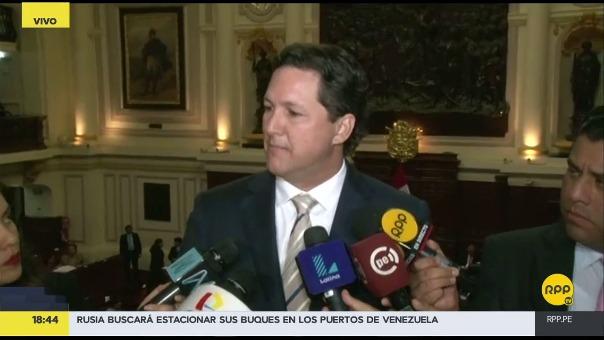 El congresista fujimorista Salaverry dijo que su partido se encuentra contento y optimista con respecto a las declaraciones que dio Marcelo Odebrecht al fiscal José Domingo Pérez, este jueves.