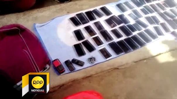 Celulares robados en Chiclayo.