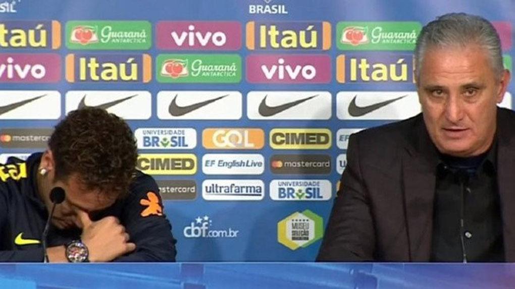Neymar rompe a llorar tras negar su mala relación con Emery y Cavani.